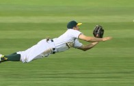 Billy Burns goes full extension for the diving catch