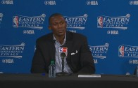Bismack Biyombo explains his finger wagging in post game presser