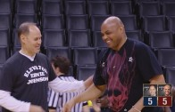 Charles Barkley & Ernie Johnson face off in a 3-point shootout