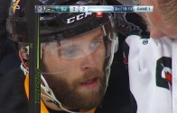 Dirty Shot? Sharks Marleau hits Penguins Rust in the Head