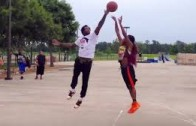Patrick Beverley shows no mercy playing young kid 1 on 1