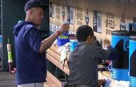 Felix Hernandez dumps water on water boy