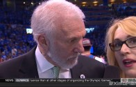 Gregg Popovich with a classic response during Game 6 interivew