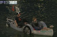 Hovercraft spotted at Giants game in McCovey Cove