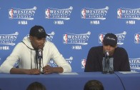 Kevin Durant & Russell Westbrook speak to the media after Game 7 loss