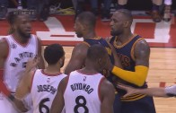 LeBron James' epic flop leads to two technical fouls