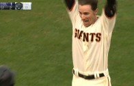 Matt Duffy smacks a walk off double for the Giants
