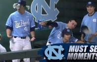 North Carolina baseball hilariously video bombs teammate