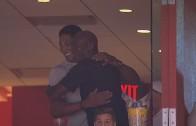 Scottie Pippen surprises Michael Jordan at Heat vs. Hornets Game 7