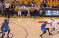 Stephen Curry puts Andre Roberson on Skates