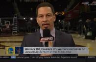 "Chris Broussard says Draymond Green called LeBron James a ""Bitch"""