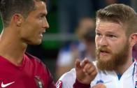 Cristiano Ronaldo refuses to swap shirts with Iceland captain
