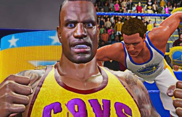 LeBron James & Steph Curry face off in WWE 2K16