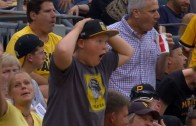 Pirates fan with a hilarious astounded reaction after home run