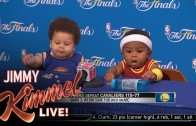 Press Conference with Baby Steph Curry & Baby LeBron