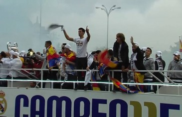 Real Madrid celebrate Champions League victory in Madrid