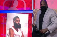 "Shaq gives James Harden ""Shaqtin' A Fool"" MVP"