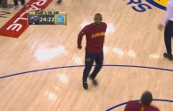Warriors fans boo LeBron James in warm ups