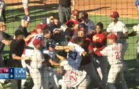 Corpus Christi Hooks & Frisco RoughRiders bench clearing brawl
