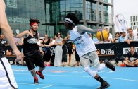 Dennis Schroder posterizes opponent in German streetball game