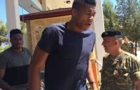 Giannis & Thanasis Antetokounmpo Begin Military Terms in Greece