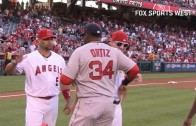 Mike Trout honors David Ortiz with a Gold Chain & Sunglasses