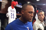 Adrian Beltre reacts to Prince Fielder's retirement