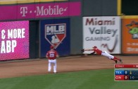 Billy Hamilton lays out full speed to make impressive grab