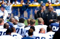 Dallas Cowboys walk out with Dallas Police & Family Members at Training Camp