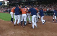 Evan Gattis hammers walk off homer for the Astros