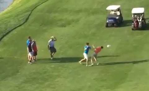 Golfers break into a fist fight on the Golf Course