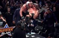 Highlights of Brock Lesnar & Randy Ortion squaring off at Summer Slam