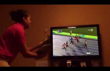 Hilarious: Jamaican woman cheers on Usain Bolt