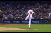 Indians pitcher Zach McAllister makes unbelievable kick save catch