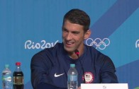 Michael Phelps not impressed with reporter wearing Pittsburgh Steelers gear