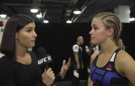Paige VanZant speaks on her flying leg kick win at UFC Vancouver