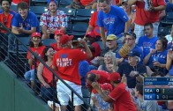 Rangers fan snags screaming Rougned Odor line drive