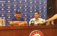 Rangers Jeff Banister & Jon Daniels discuss Prince Fielder's retirement