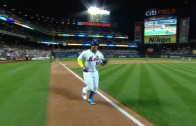 Yoenis Cespedes blasts a walk-off jack for the Mets
