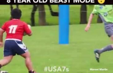8 year old Rugby player trucks an entire team