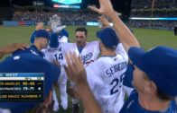 Adrian Gonzalez rips walk off double for the Dodgers