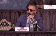 Conor McGregor in classic form during UFC 205 press conference