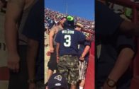 Dad screams for help during a brawl at the Los Angeles Rams game
