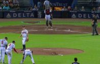 Freddie Freeman over slides but makes spectacular recovery