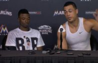 Dee Gordon & Giancarlo Stanton speak on the Marlins emotional game