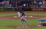 Dee Gordon homers for Jose Fernandez in lead off at bat