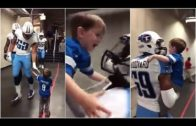 Lions fan shares special moment with Tennessee Titans players