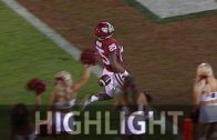 Oklahoma's Joe Mixon drops ball before scoring his 97 yard TD return