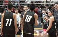 Steph Curry gets his shot blocked by a high schooler in Asia