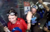 Texas Rangers celebrate AL West Championship with Prince Fielder
